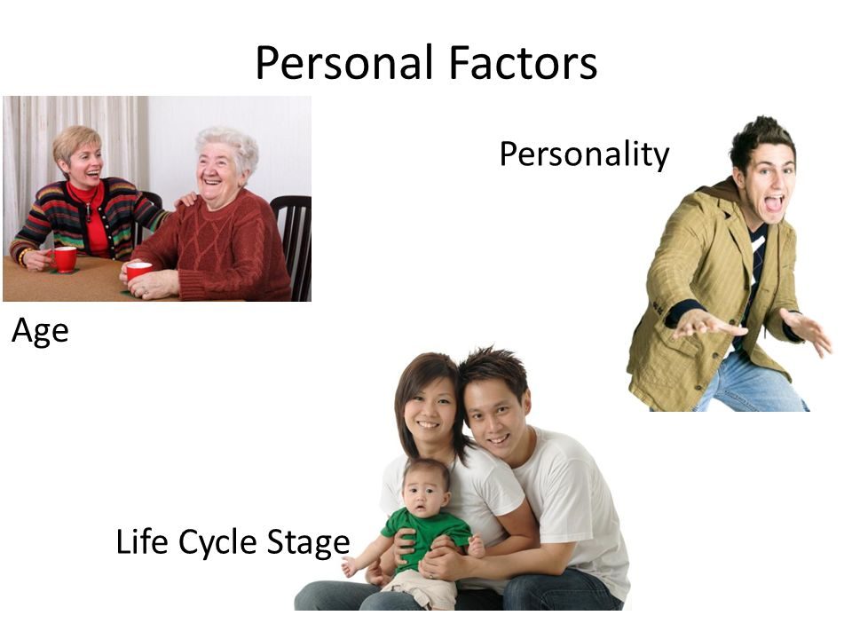 Personal Factors Age Life Cycle Stage Personality