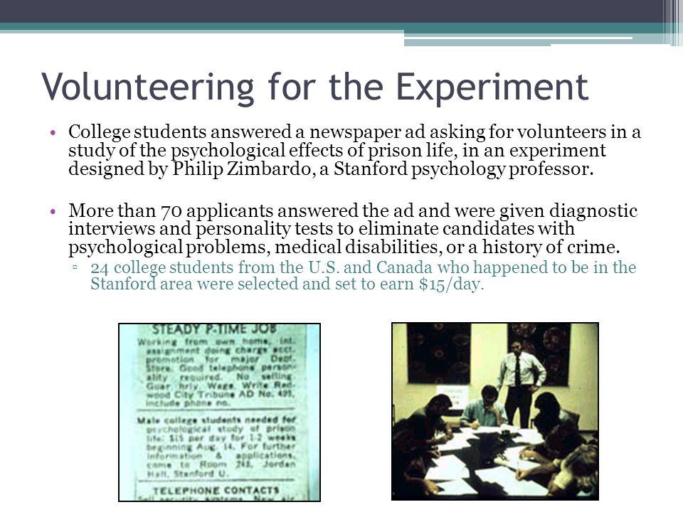 Social psych experiments