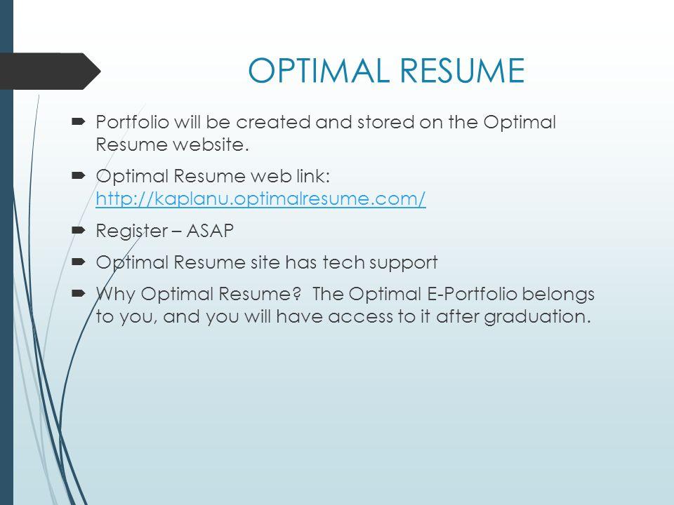 Optimal Resume Com It Located