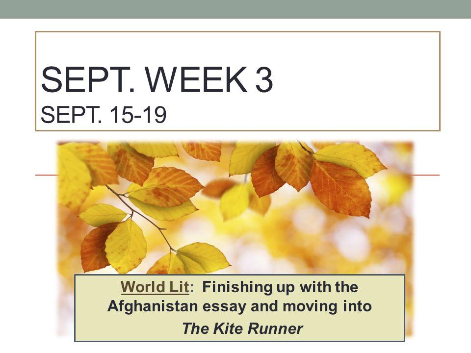 sept week sept world lit finishing up the 1 sept