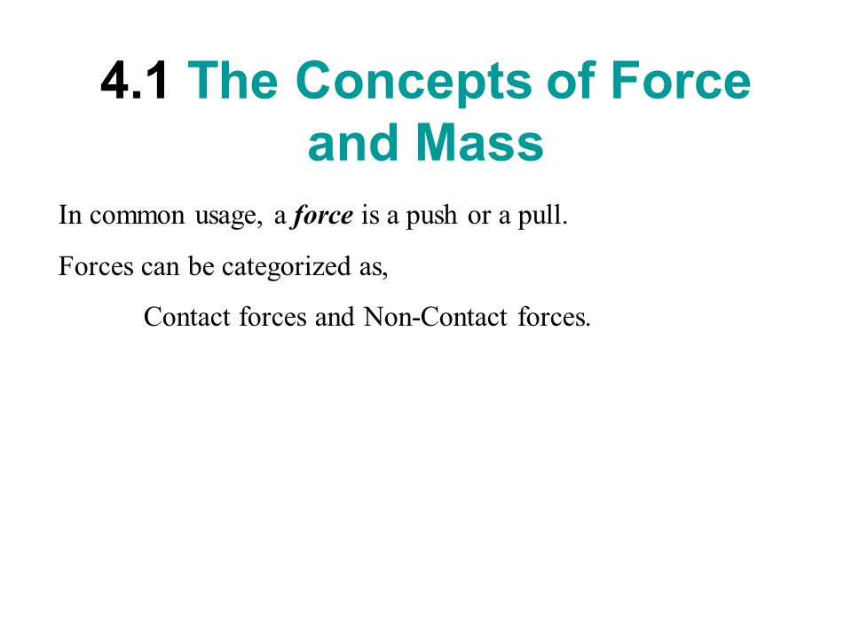 In common usage, a force is a push or a pull.