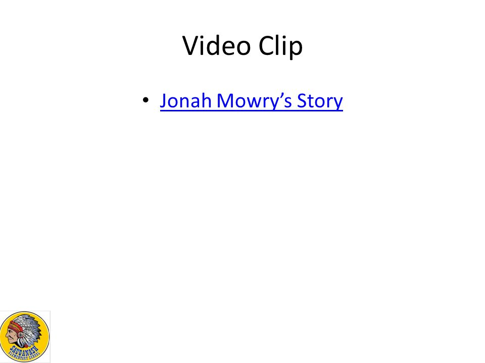 Video Clip Jonah Mowry's Story