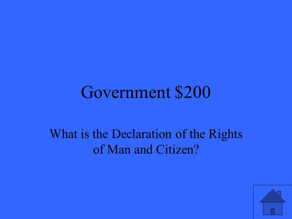 Government $200 What is the Declaration of the Rights of Man and Citizen