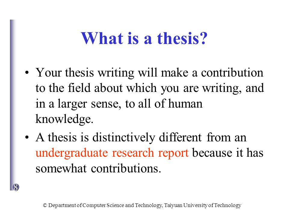 Science Thesis