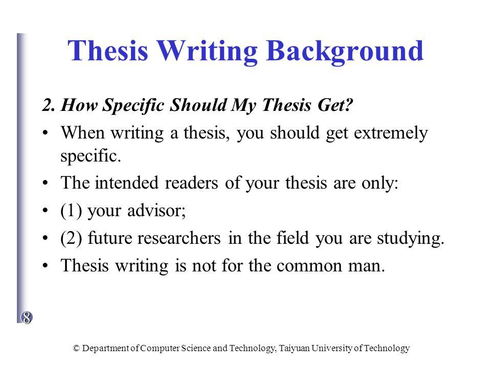 write masters thesis