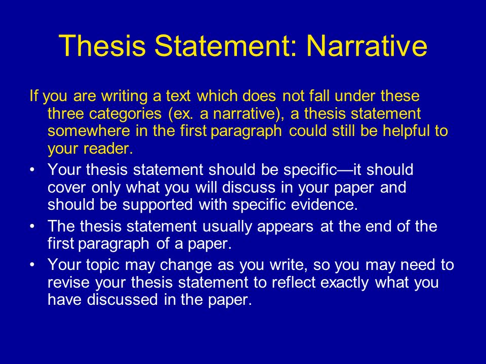 thesis statement 3 essay