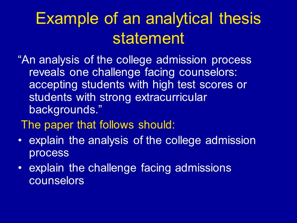 Thesis Statement For Analytical Essay Rhetorical Analysis Thesis