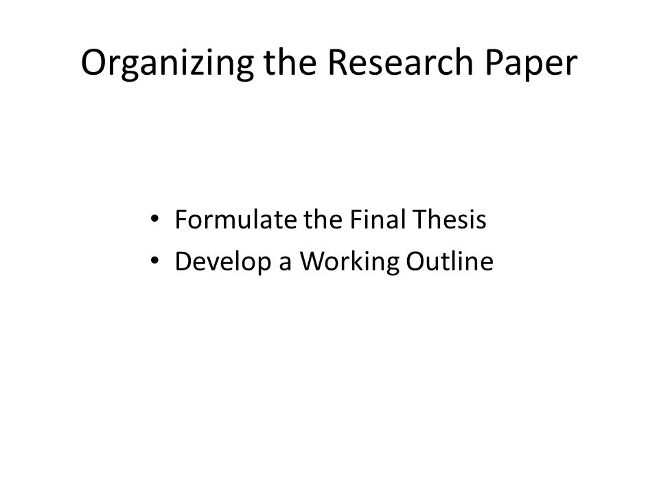 Library Research Paper