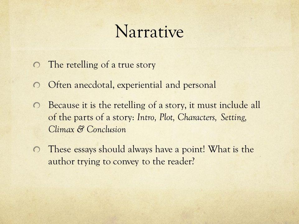 Anecdotal essay