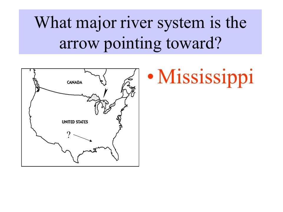 USA Quiz Review Quiz For The Exam Over CanadaUSA Update Feb Ppt - United states with major river systems