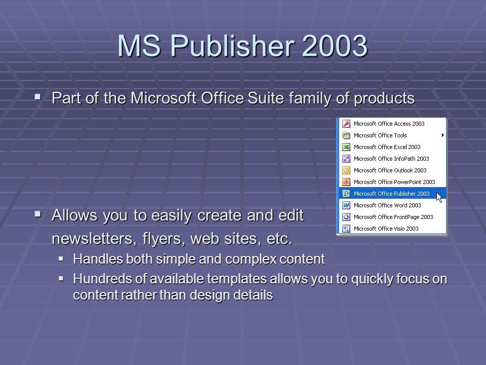 microsoft publisher 2003 templates