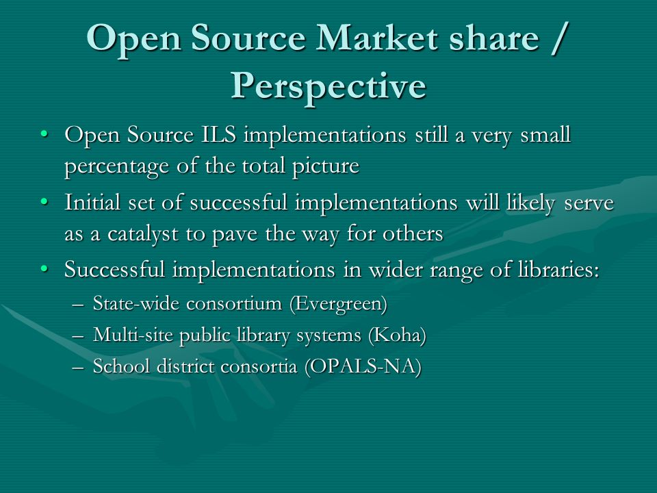 Open source ils market penetration