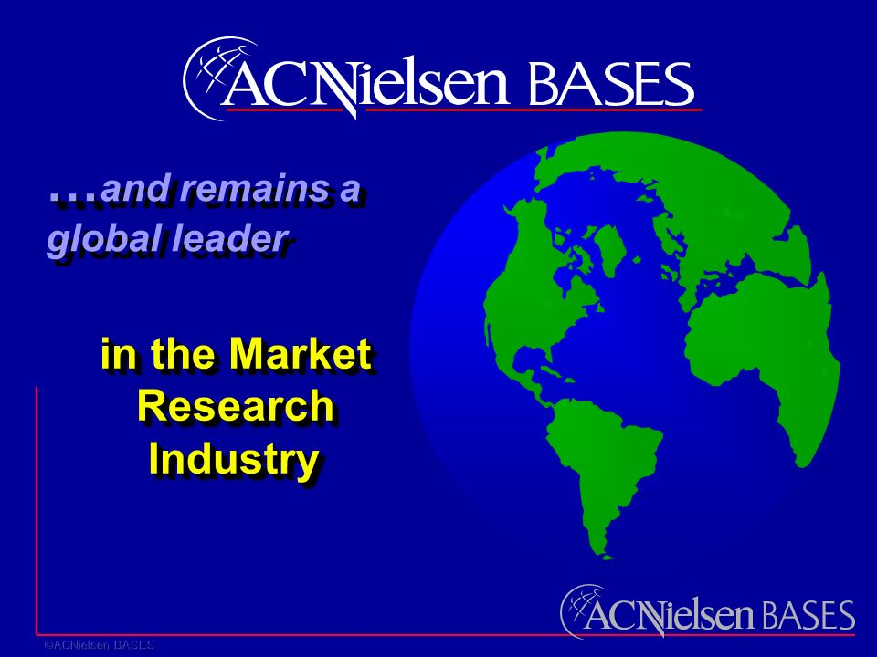 in the Market Research Industry in the Market Research Industry … … and remains a global leader