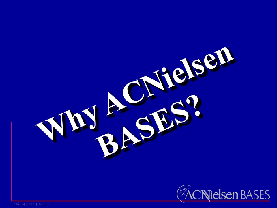 Why ACNielsen BASES