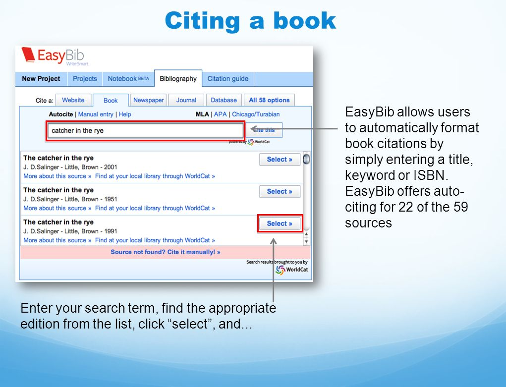 Instructional Guide. How does EasyBib make research easier? Citation ...