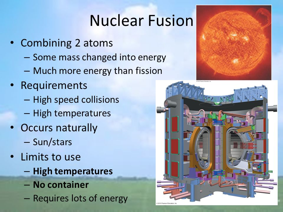 a study on nuclear fusion and the future of renewable energy sources Energy has been a massive human need since a long time we use energy to power our home , cook food , use the internet and various other things but most of it has been confined to non-renewable sources of energy like coal and petroleum it is predicted that the global energy consumption will.