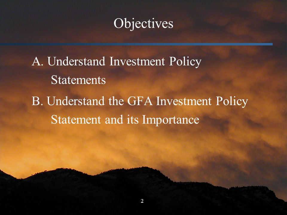 Asset Management Education Investment Policy Statements  Ppt