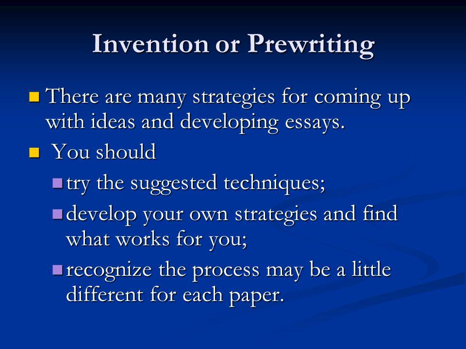 Essay Invention