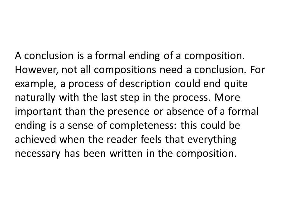 Conclusion writing