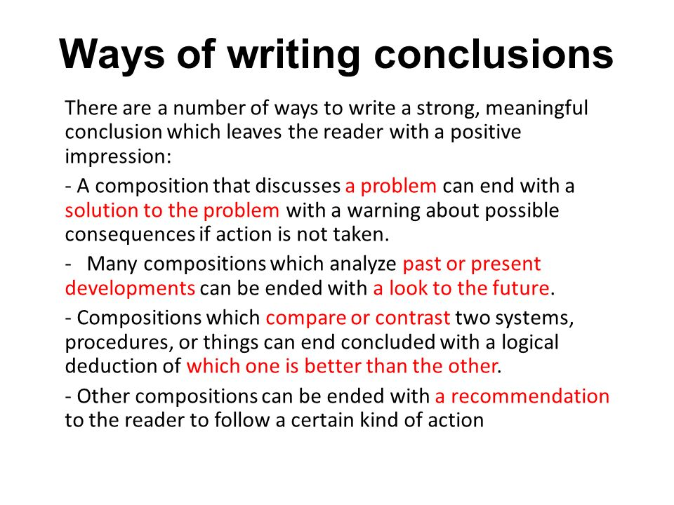 Writing A Conclusion For A Dissertation