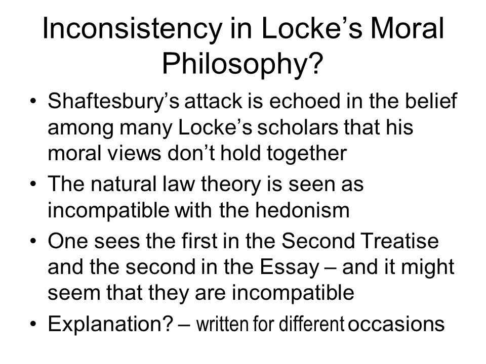 philosophy e ethical theory week six locke on the other  inconsistency in locke s moral philosophy