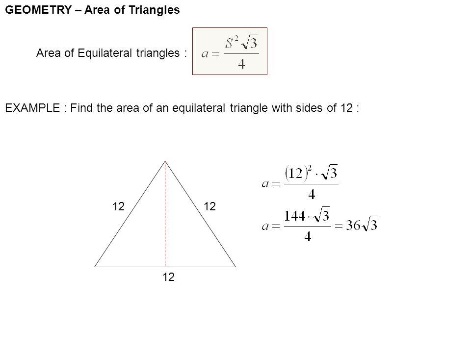 Area Of Triangle Example