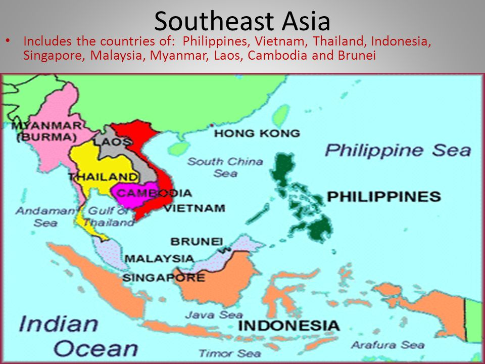 ASIA Physical Geography South Asia Includes the countries of – South and East Asia Political Map