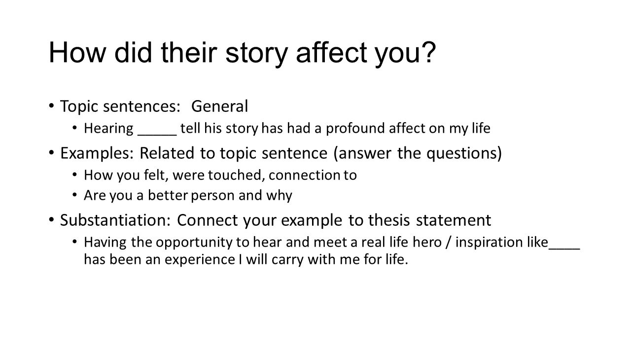 General Statement Examples For Essays