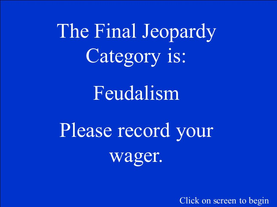 Main causes of the decline of feudalism.