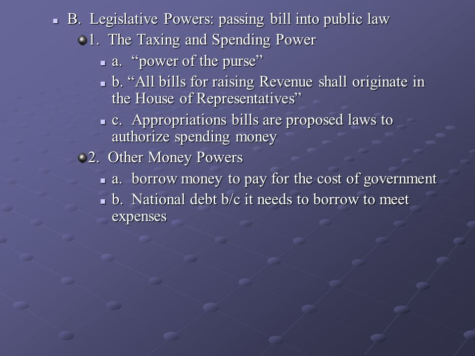 passing a bill in congress essay How does a bill get passed in congress what prevents congress from passing a bill if a majority of congress does not want the bill.