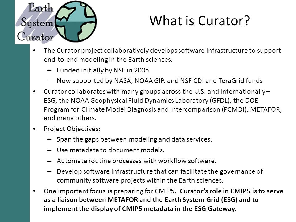 What is Curator.