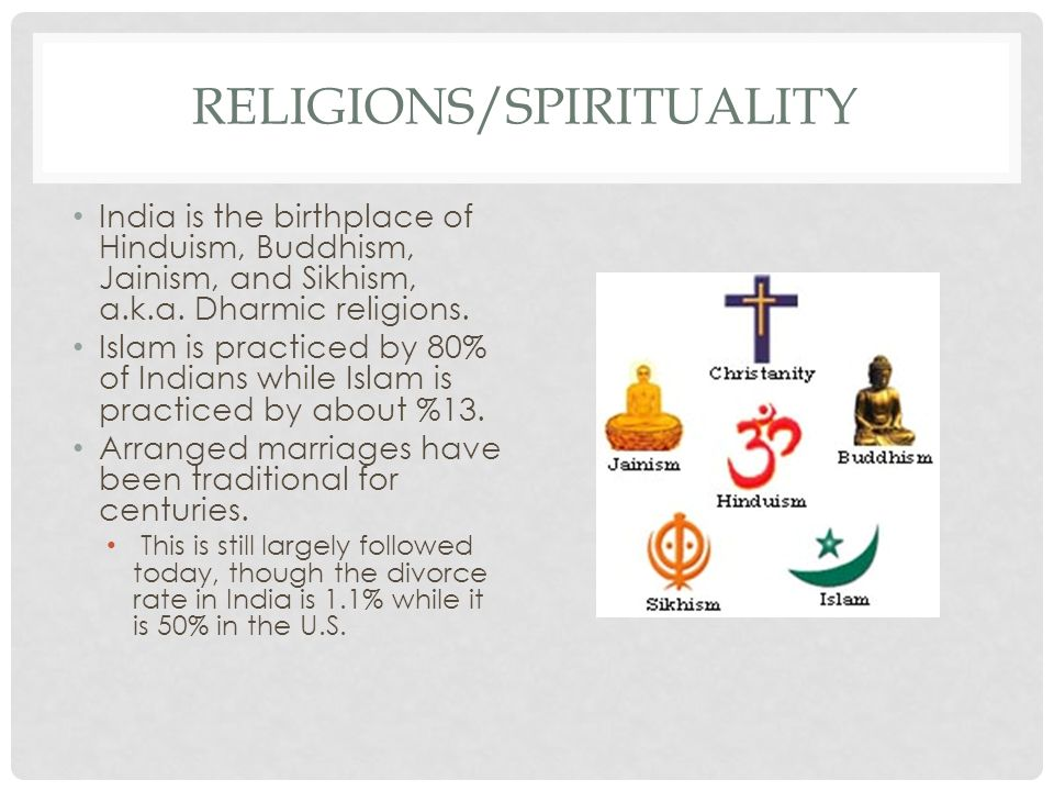 RELIGIONS/SPIRITUALITY India is the birthplace of Hinduism, Buddhism, Jainism, and Sikhism, a.k.a.