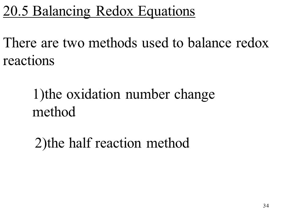 Chapter 20 OxidationReduction Reactions Redox Reactions ppt – Redox Reactions Worksheet