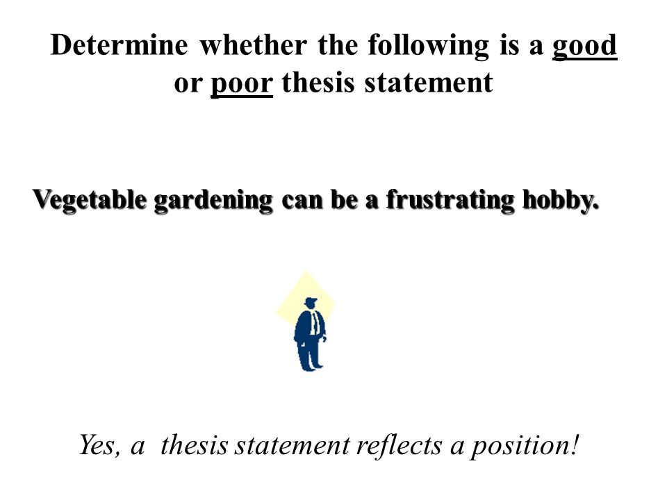 Poor thesis statement