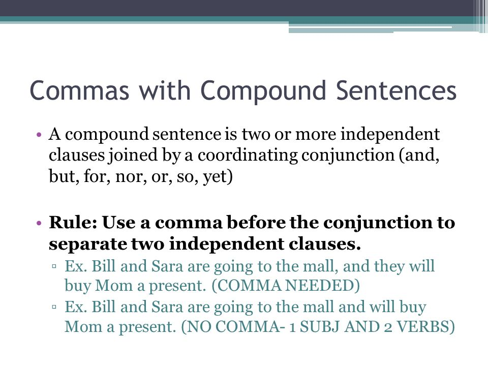 Commas In Compound Sentences Worksheet - Synhoff