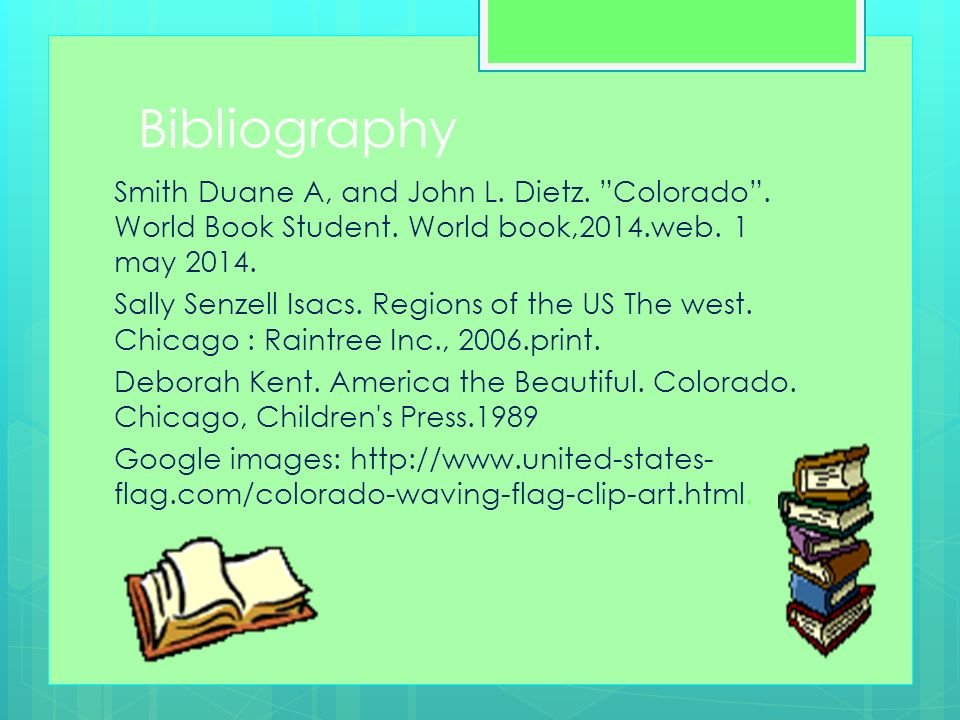 Colorado By Abby B and Caroline M Nickname Region in the US