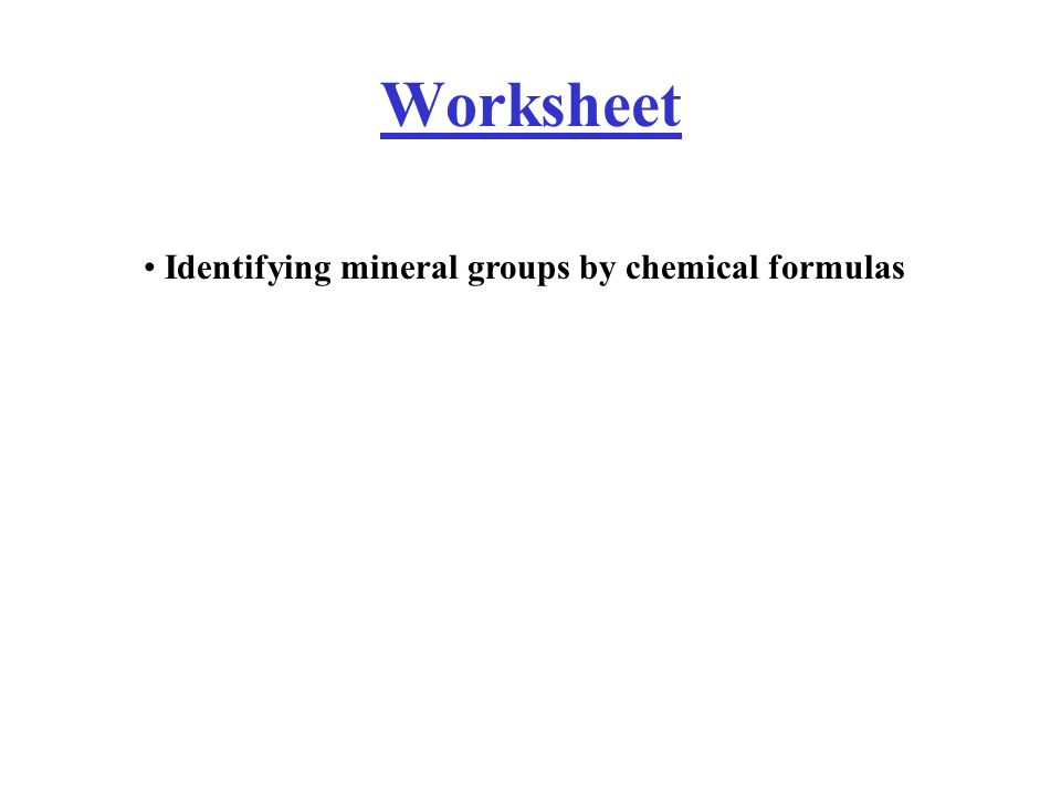 Mineral Identification Lab Worksheet Coursework Academic Writing