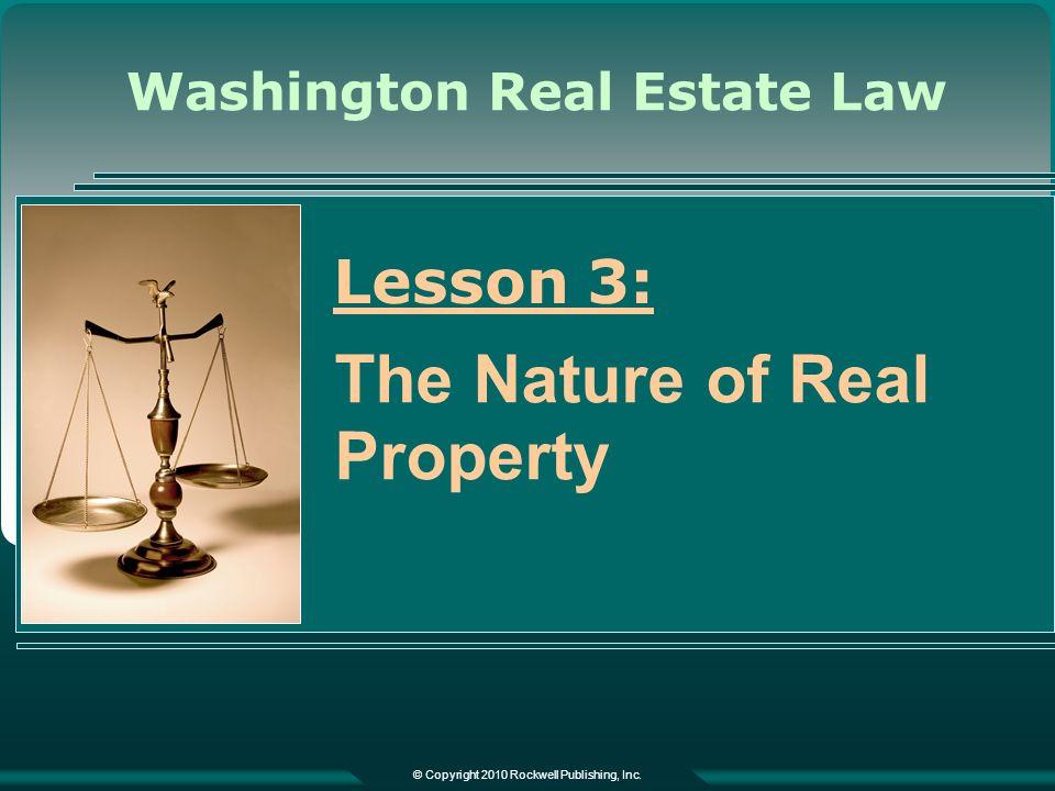 Washington Real Estate Law © Copyright 2010 Rockwell Publishing, Inc.