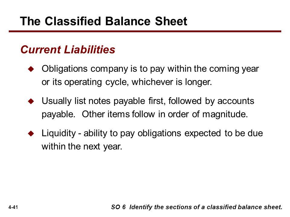 Classified Balance Sheet Example Wiley Plus