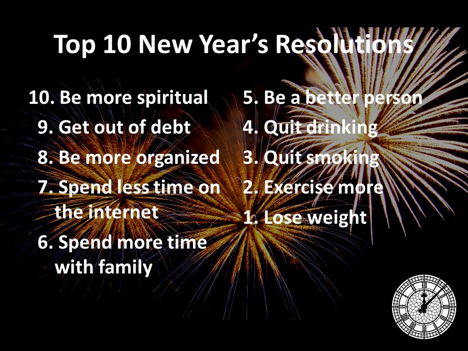 2 Top 10 New Yearu0027s Resolutions ...