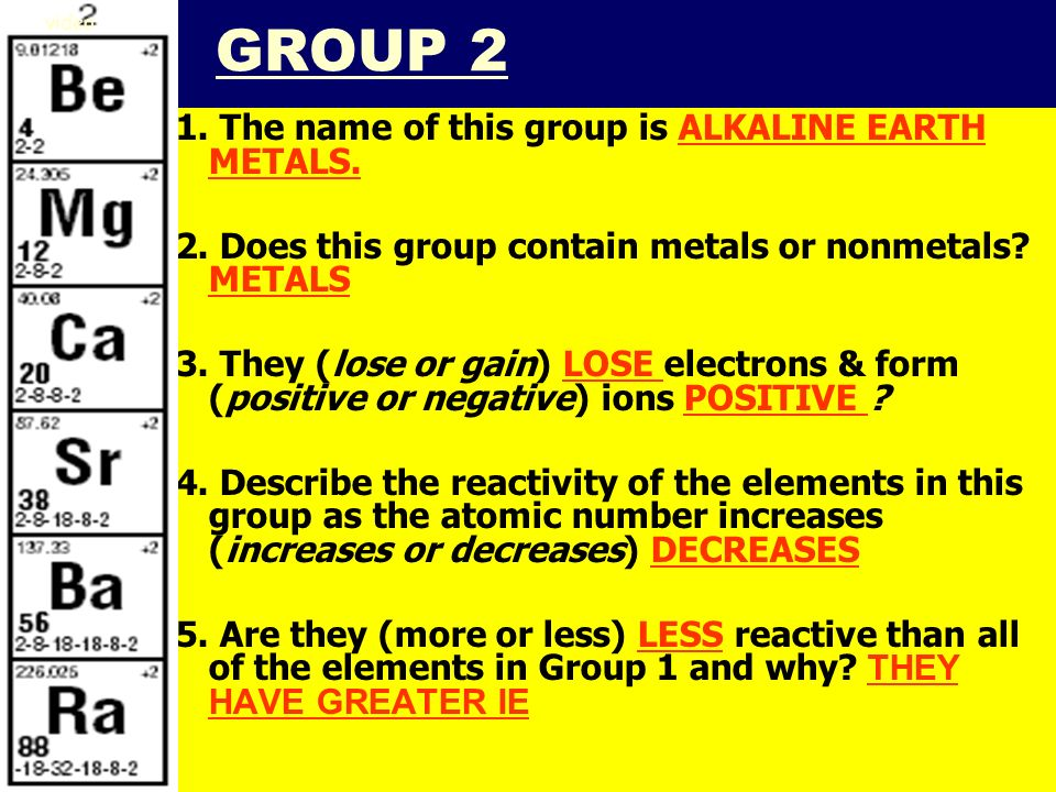 Iiiiii smb periodic table notes the periodic table topic 5 click smb periodic table notes 201141 group 2 1 the name of this group is urtaz Gallery