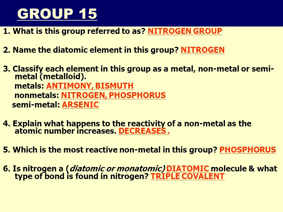 Iiiiii smb periodic table notes the periodic table topic 5 click smb periodic table notes 201143 group 15 1 what is this group referred to urtaz Gallery