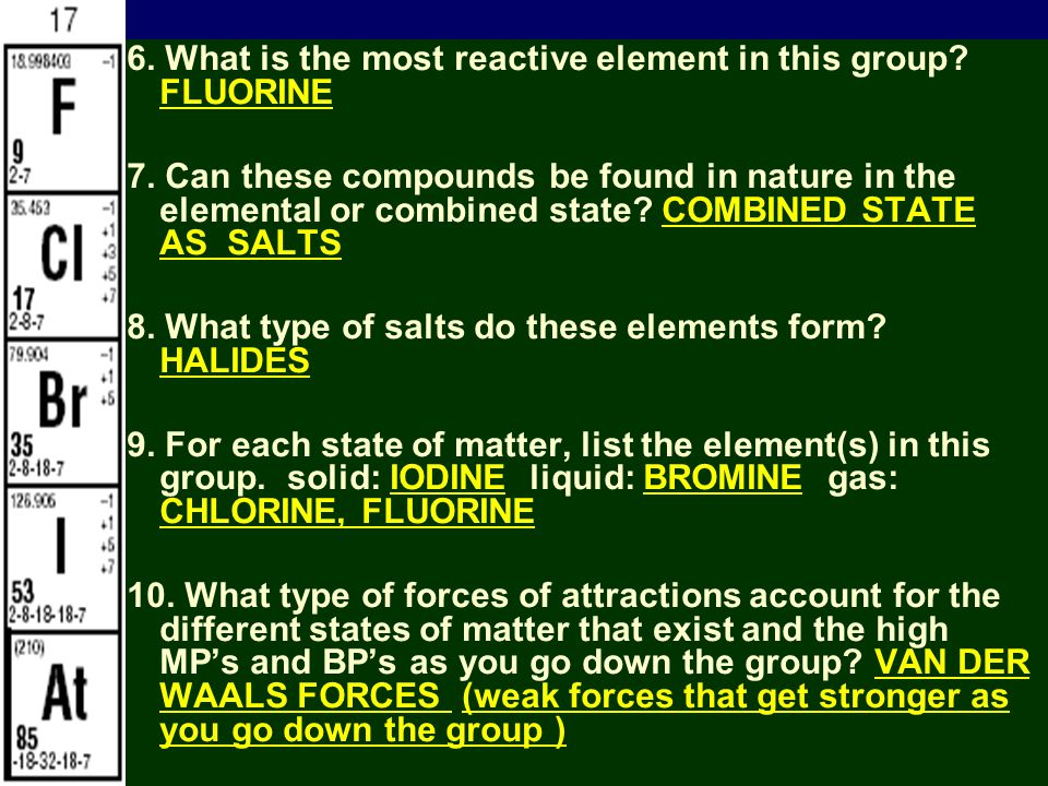 Iiiiii smb periodic table notes the periodic table topic 5 click smb periodic table notes 201147 6 what is the most reactive element in this urtaz Image collections