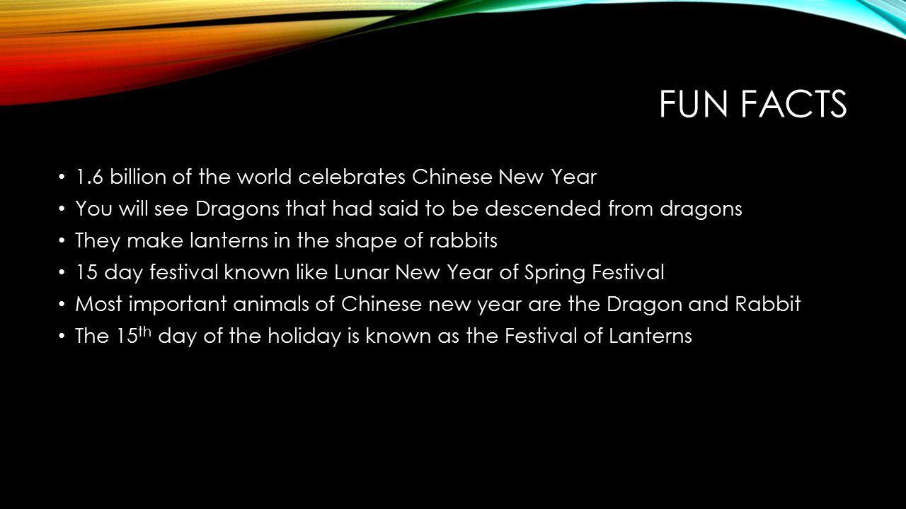 14 fun facts 16 billion of the world celebrates chinese new year - Chinese New Year Facts