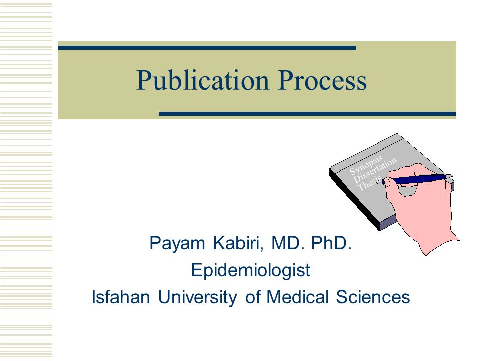 Phd Dissertation Publications