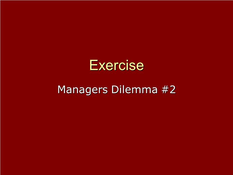 Exercise Managers Dilemma #2