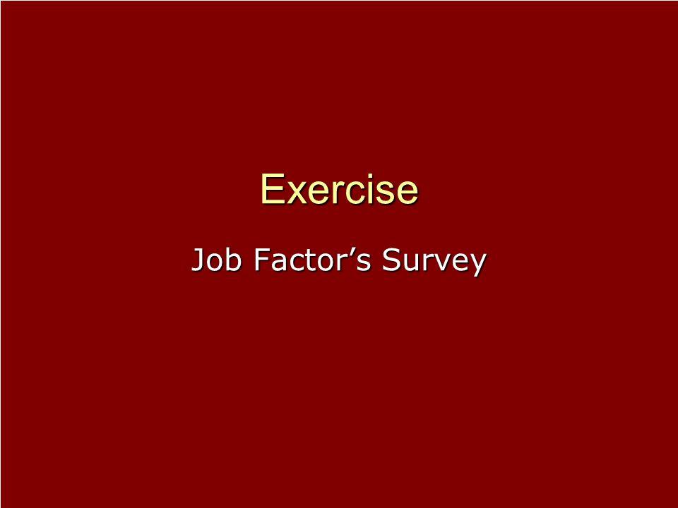 Exercise Job Factor's Survey