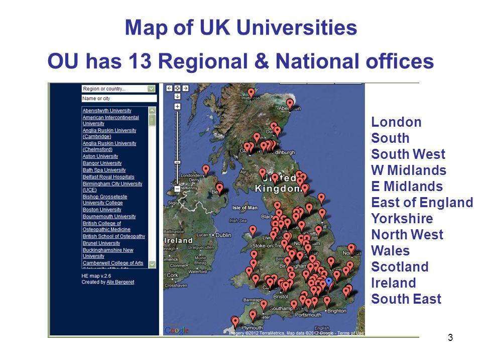 International Postgraduate Researchers Map Of UK - Uk universities map