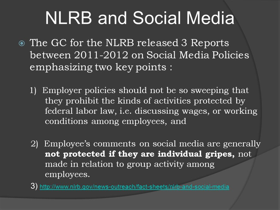 The NLRB STILL In Pursuit of Relevance With a Vengeance! Steve ...