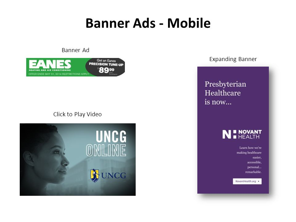 Banner Ads - Mobile Expanding Banner Click to Play Video Banner Ad